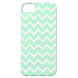Mint Green Zigzag Chevron Stripes. iPhone 5 Case