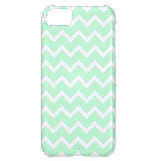 Mint Green Zigzag Chevron Stripes. iPhone 5C Cases