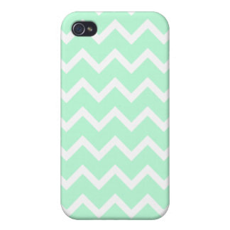 Mint Green Zigzag Chevron Stripes Cases For iPhone 4