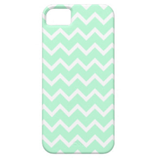 Mint Green Zigzag Chevron Stripes. iPhone SE/5/5s Case