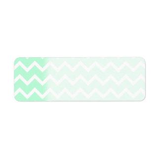 Mint Green Zigzag Chevron Stripes. Label