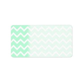 Mint Green Zigzag Chevron Stripes. Custom Address Labels