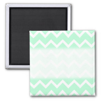Mint Green Zigzag Chevron Stripes. Magnet