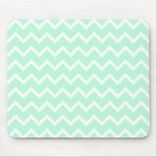 Mint Green Zigzag Chevron Stripes. Mouse Pad