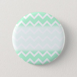 Mint Green Zigzag Chevron Stripes. Pinback Button
