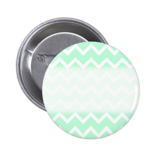 Mint Green Zigzag Chevron Stripes. Pinback Buttons