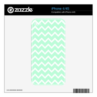 Mint Green Zigzag Chevron Stripes. Skins For iPhone 4S