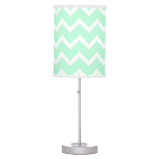 mint green zigzag chevron stripes table lamp