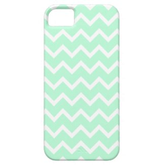 Mint Green Zigzag Stripes. Iphone 5 Case