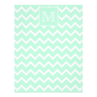 Mint Green Zigzag with Custom Monogram. Letterhead