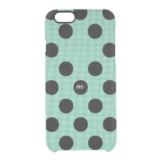 Mint Halftone Dots Clear iPhone 6/6S Case