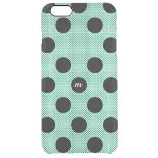 Mint Halftone Dots Clear iPhone 6 Plus Case
