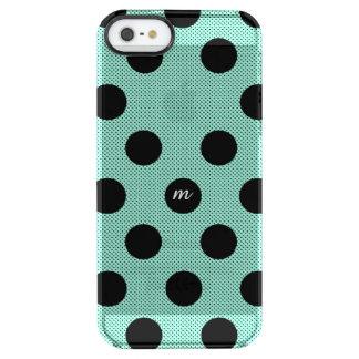 Mint Halftone Dots Clear iPhone SE/5/5s Case