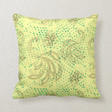 McTiffany Tiffany Aqua Mint halftones with butterfly pattern throw pillow