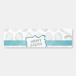 mint happy easter bumper stickers