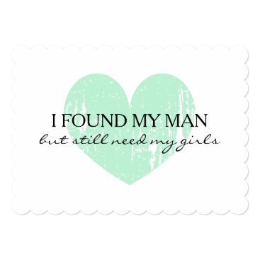 Valentines Themed Mint heart Will you be my bridesmaid request cards