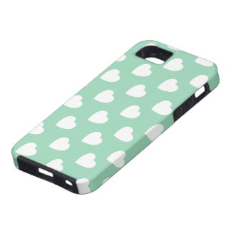 Mint Hearts Pattern iPhone 5 Case-Mate Vibe™ iPhone SE/5/5s Case