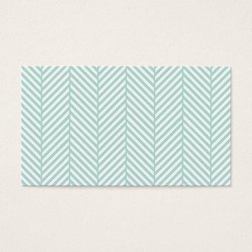 Professional Business Mint Herringbone Business Card Template