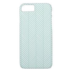 Mint Herringbone Iphone 7 Case at Zazzle