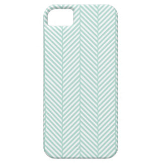 Mint Herringbone iPhone SE/5/5s Case