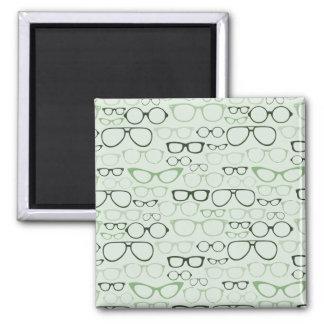 Mint Hipster Glasses Refrigerator Magnet
