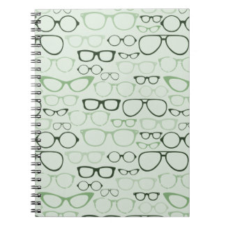 Mint Hipster Glasses Notebook