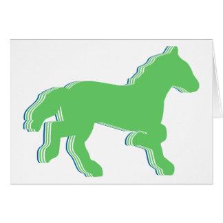 mint horse card