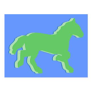 mint horse postcard