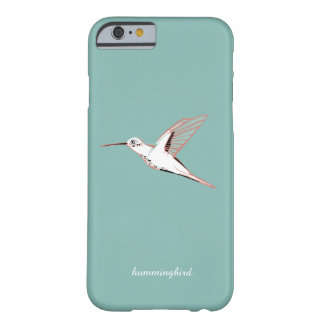 Mint hummingbird elegant minimalist whimsical case funda para iPhone 6 barely there