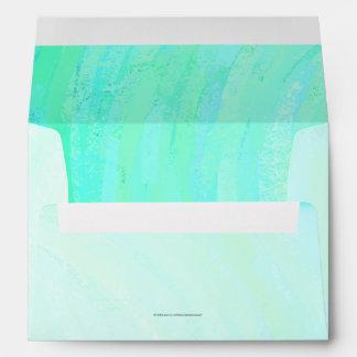 Mint Ice Blue and Black Monogram Envelope