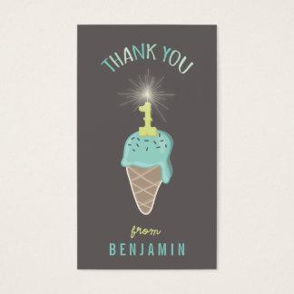 Mint Ice Cream 1st Birthday Thank You DIY Gift Tag