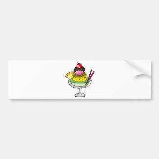 Mint ice cream car bumper sticker