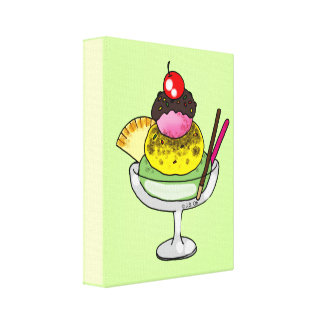 Mint ice cream gallery wrapped canvas