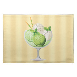 Mint Ice Cream Cloth Placemat