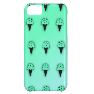 Mint Ice Cream Cones (Star Chips) iPhone 5C Cases