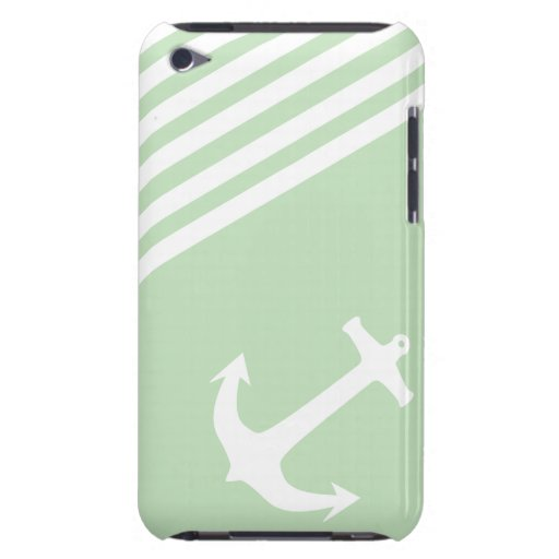 Mint Ice Cream Green Nautical Barely There iPod Case