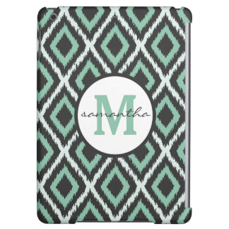 Mint Ikat Monogram iPad Air Case