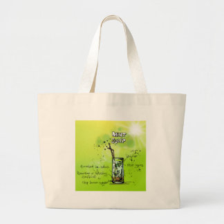 Mint Julep - Cocktail Gift Large Tote Bag