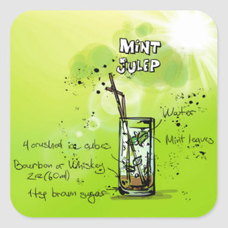Mint Julep - Cocktail Gift Square Sticker