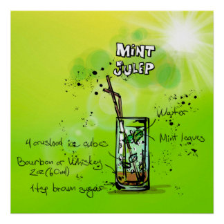 Mint Julep Cocktail Poster