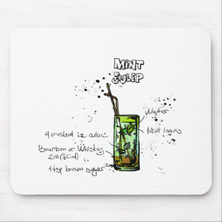Mint Julep Cocktail Recipe Mouse Pad