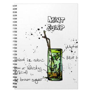 Mint Julep Cocktail Recipe Notebook