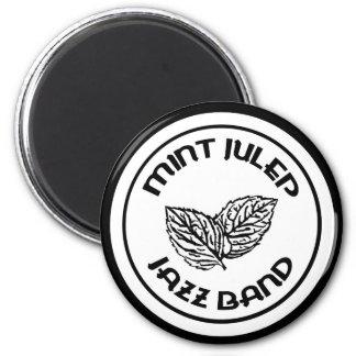 Mint Julep Jazz Band black logo magnet