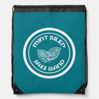 Mint Julep Jazz Band white logo dance shoe bag