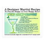 Mint Julep Martini Recipe Postcard
