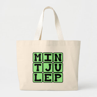 Mint Julep Minty Beverage Canvas Bags