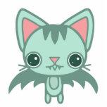 mint kitty bat photo cutout