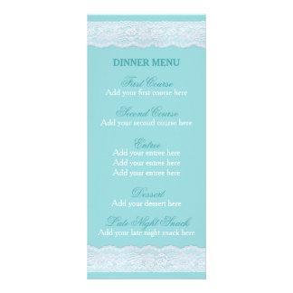 Mint lace menu Wedding dinner menu template Custom Rack Cards