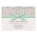Mint Lace Pearl Wedding Reception Enclosure Card