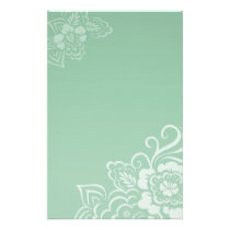 Mint Lace - Stationery